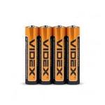 Батарейки Videx AAA R03P 4 шт (2876) фото №1