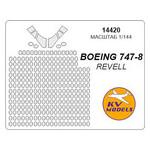 Маска для модели KV Models Самолет Boeing 747-8 (KVM14420) фото №1