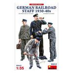Модель Miniart Немецкий железнодорожный персонал 1930-40-х годов (MA38012) фото №1