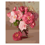 Картина по номерам Идейка Букеты Розовое вдохновение 30х40 см (KHO3082) фото №2