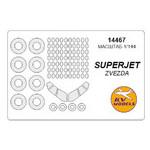 Маска для модели KV Models Самолет Superjet-100 (KVM14467) фото №64