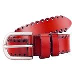 Женский кожаный ремень AMO STAMO3002-red фото №1
