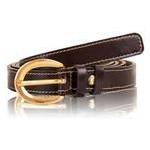 Женский узкий кожаный ремень на польто Gala Gurianoff GG1916-10 фото №1