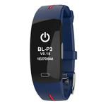 Фитнес-браслет Lemfo P3 Plus с ЭКГ и тонометром (Сине-красный) фото №6