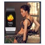 Фитнес-браслет Lemfo T1 с измерением температуры тела (Черный) фото №12