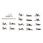 Йога роллер набор 3 в 1 PowerPlay 4022 Черно-Оранжевый фото №3