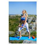Йога роллер набор 3 в 1 PowerPlay 4022 Черно-Оранжевый фото №2