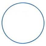 Обруч гимнастический S4S 96 см металл синий L11 фото №1