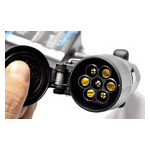 Переходник с американских розеток фаркопа 4 на евро-вилку 7 контактов HP-trailer TLC47P фото №3