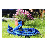 Садовый увеличивающийся поливочный шланг X-hose 30 м 100FT steel с распылителем для полива (М6907) фото №1