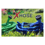 Садовый увеличивающийся поливочный шланг X-hose 30 м 100FT steel с распылителем для полива (М6907) фото №5