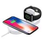 Беспроводное зарядное устройство UTG-T Charger Wireless 2 в 1 с технологией QI для iPhone, Apple Watch (qww07) фото №3