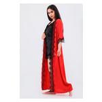 Комплект Эмилия большие размеры Ghazel 17111-52/8 Размер 50 красный халат/черный пеньюар фото №5