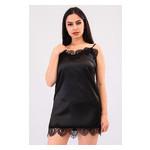 Комплект Эмилия большие размеры Ghazel 17111-52/8 Размер 48 серый халат/черный пеньюар фото №1