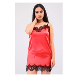 Комплект Эмилия Ghazel 17111-52 Размер 44 черный халат/красный пеньюар фото №1