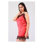 Комплект Эмилия Ghazel 17111-52 Размер 44 черный халат/красный пеньюар фото №2