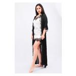 Комплект Эмилия Ghazel 17111-52 Размер 42 черный халат/кремовый пеньюар фото №4