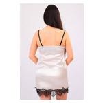 Комплект Эмилия Ghazel 17111-52 Размер 44 черный халат/кремовый пеньюар фото №2