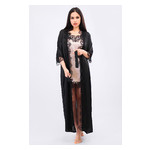 Комплект Эмилия Ghazel 17111-52 Размер 42 черный халат/натуральный комплект фото №2
