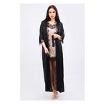 Комплект Эмилия Ghazel 17111-52 Размер 44 черный халат/натуральный комплект фото №2
