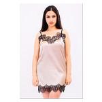 Комплект Эмилия Ghazel 17111-52 Размер 46 черный халат/натуральный комплект фото №1