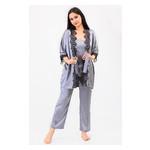 Комплект Мелания Ghazel 17111-63 Размер 46 серый халат/серый комплект фото №1