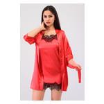 Комплект Лиана Ghazel 17111-56 Размер 44 красный халат/красный пеньюар фото №4
