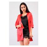 Комплект Лиана большие размеры Ghazel 17111-56/8 Размер 50 красный халат/черный пеньюар фото №5