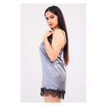 Комплект Лиана Ghazel 17111-56 Размер 42 серый халат/серый пеньюар фото №2
