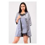 Комплект Лиана Ghazel 17111-56 Размер 44 серый халат/серый пеньюар фото №4