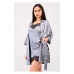 Комплект Лиана Ghazel 17111-56 Размер 44 серый халат/серый пеньюар фото №5