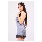 Комплект Лиана Ghazel 17111-56 Размер 44 черный халат/серый пеньюар фото №4