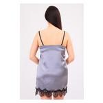 Комплект Лиана Ghazel 17111-56 Размер 46 черный халат/серый пеньюар фото №5