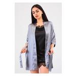 Комплект Лиана Ghazel 17111-56 Размер 46 серый халат/черный пеньюар фото №4