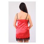 Комплект Лиана Ghazel 17111-56 Размер 44 черный халат/красный пеньюар фото №3