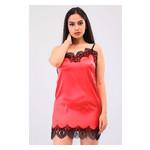 Комплект Лиана Ghazel 17111-56 Размер 44 черный халат/красный пеньюар фото №1