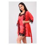 Комплект Милада Ghazel 17111-57 Размер 42 красный халат/красный пеньюар фото №2