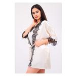Комплект Милада Ghazel 17111-57 Размер 44 кремовый халат/кремовый пеньюар фото №4