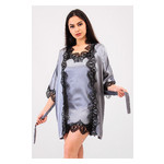 Комплект Милада Ghazel 17111-57 Размер 42 серый халат/серый пеньюар фото №4
