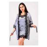 Комплект Милада Ghazel 17111-57 Размер 44 серый халат/серый пеньюар фото №4
