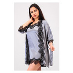 Комплект Милада Ghazel 17111-57 Размер 44 серый халат/серый пеньюар фото №5