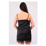 Комплект Милада большие размеры Ghazel 17111-57/8 Размер 48 черный халат/черный пеньюар фото №5