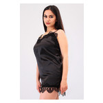 Комплект Милада большие размеры Ghazel 17111-57/8 Размер 48 черный халат/черный пеньюар фото №4