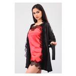 Комплект Милада Ghazel 17111-57 Размер 44 черный халат/красный пеньюар фото №5
