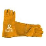 Перчатки Intertool замшевые краги 35 см х 14 коричневые (SP-0157W) фото №3