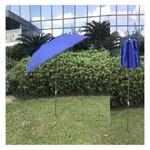 Зонт пляжный Stenson MH-2712 d2.0м с треногой и колышками, синий фото №4