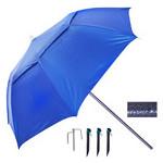 Зонт пляжный Stenson MH-2712 d2.0м с треногой и колышками, синий фото №3