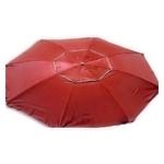 Зонт пляжный антиветер Stenson MH-2684 d2.0м серебро красный фото №1