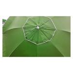Зонт пляжный антиветер Stenson MH-2684 d2.0м серебро салатовый фото №2