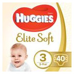 Подгузник Huggies Elite Soft 3 5-9кг Jumbo 40шт (5029053547770) фото №1